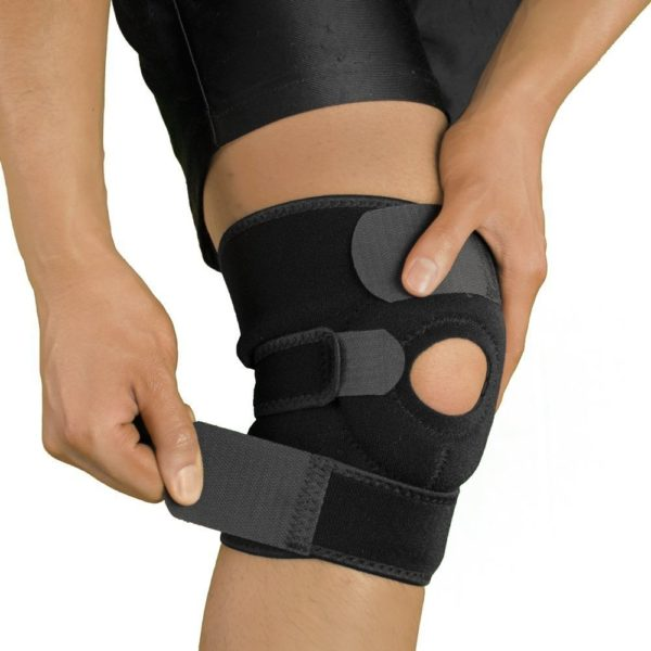 Knee support brace helps soothe knee pain using orthotic compression support