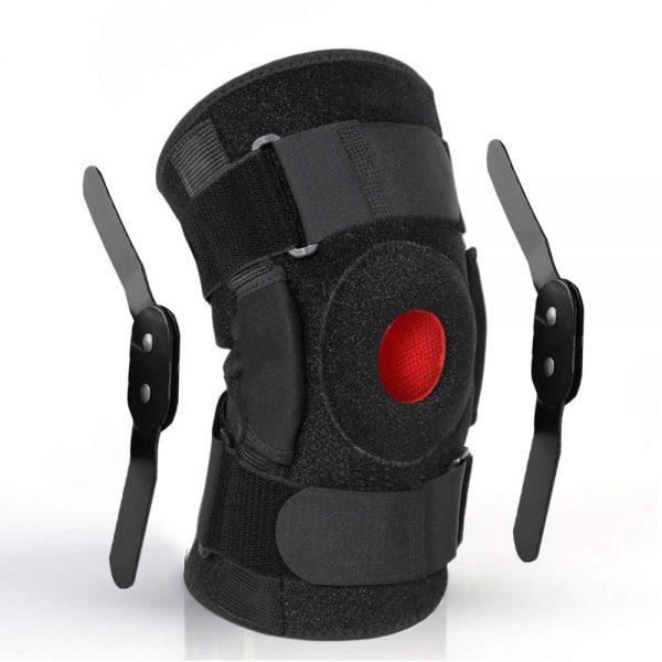 Hinged ACL knee brace
